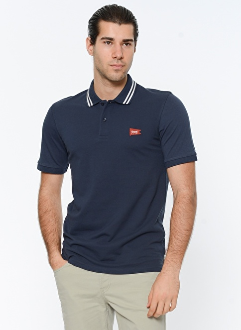 Jack & Jones Polo Yaka Tişört Lacivert